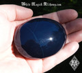 "Blue Obsidian Large Palm Stones RARE 2.5"" . Healing, Absorbing Negative Energies within the Body"