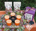 Midsummers Night LITHA Ritual Kit . Summer Solstice, Candle Wheel, Herbs, Bonfire Blend