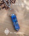 Lapis Lazuli Pendulum Gemstone Necklace . Knowledge, Wisdom, Intuition, Shields Negativity, Evil Eye