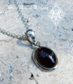 Blood Drop Almandine Garnet Pendant Necklace . Protection, Shielding Negative Energies, Healing, Success