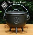 Cast Iron Pentacle Cauldron with Lid XL Jumbo