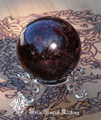 "Natural Almandine Garnet Gemstone Sphere 2"" Beautiful Polished . For Protection, Healing, Success, Passion, Faerie Workings"