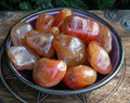 Carnelian Tumbled Gemstones Set of 2 Medium . Protection, Peace, Healing, Creative Balance, Courage, Past Life, Nature Workings