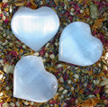 Selenite Gemstone Heart Medium 2.5""