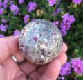 "Ruby Fuchsite Sphere 2"" . Healing Stone, Calming, Heart, Blood Pressure, Insomnia"