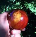 "*Carnelian Sphere 2.5"" Beautiful Deep Orange"