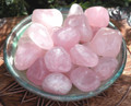 Rose Quartz Tumbled Gemstone . Compassion, Love, Healing, Positive Energy, Peace, Banishing Fear, Clearing . Large Set of 2