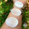 Selenite Medallions Palm Worry Stones
