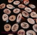 Willow Wood Elder Futhark Viking Rune Set