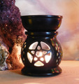 Pentacle Essential Oil Burner Diffuser in Jet Black Stone