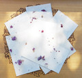 Magic Flash Sparkling Spell Papers with Purple Violet Flowers for Spring, Spells & Magic