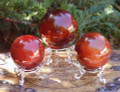 Carnelian Spheres for Protection, Peace & Healing