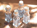 Glass Crystalline Square Corked Vials 3ml - Set of 4