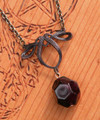 Blood Drop . Natural Almandine Garnet Pendant Necklace . For Protection, Shielding Negative Energies, Healing, Success, Passion and Faerie Workings