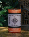 KARMA Spell Candle . Renew your Karmic Energy, Change Cause and Effect, Banish Past Karmic Energy