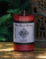 LOVE Spell Candle . Enhance and Draw Love . Attraction, Lust, Enchanted Witchery Spells