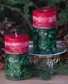 30% OFF - Winter Solstice Holiday Fusion 2x3 Pillar Candle . Limited Edition