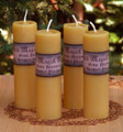 Old World Pure Beeswax Pillars ~ Beautifully Handmade