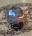 Bloodstone Crystal Gemstone Sphere . Healing, Success, Protection, Prosperity, Justice, Creativity, Talent