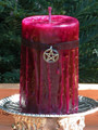 Witches Magick Love Spell Candle . 2x3 Pillar . Love, Attraction, Bewitching Spells, Find Your Soul Mate