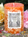 Litha Midsummers Night Ritual Candle 2x3 Pillar for Summer Solstice . Lemon, Madagascar Vanilla Bean and Sweet Cream