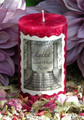 Sweet Musk Roses 2x3 Pillar Candle . For Summer Solstice, Midsummer Celebrations, Ritual, Summer Faerie Magick