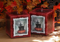 Haunted Pumpkin 3x3 Candle . Samhain, Halloween, Seance, Otherworldly Spirit Workings, Haunts