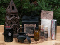 Spirit Night Ritual Kit . Otherworldly Spirit and Ancestral Workings, Divination, Samhain . Candle, Cauldron, Resins, Incense, Spell Papers, Conjure Oil, Charcoal Disks