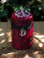 Blood Moon ~ Moontime Lunar Alchemy Witches Alchemy Candle ~ Lunar Magick, Goddess Workings . Dark Earthly Moonflower, Bladderwrack, Jasmine, Amber, Rose, Dragons Blood