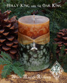 Holly King Oak King Fusion Candle 2x3 Pillar ~ Lord of the Greenwood, Midwinter, Lord of the Winterwood, Knowledge, Mysteries