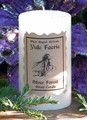 Yule Faerie Silver Forest 2x3 Pillar Candle ~ Holiday Faerie Gardens, Winter Solstice ~ Fresh Clean New Fallen Snow Essence