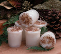 Old England Egg Nog Holiday Votives Set of 6 ~ Cream, Sugar, Eggs, Spiced Rum and Bourbon Vanilla Topped with Fresh Nutmeg