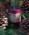 Sugared Cranberry . Twelfth Night Holiday Pillar Candle 3x4 . Baked Sugared Cranberry, Cinnamon Stick, Orange Zest, Vanilla