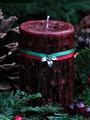 Yule Log Holiday Candle 2x3 Pillar . Winter Solstice . Smokey Winter Woods of Pine, Cedar, Oak, Cinnamon