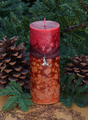 Winter Lemon Verbena Orange Cranberry Fusion Candle Pillar ~ Yule and Winter
