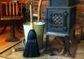 Hearth Broom ~ Black ~ Old World Style All Organic Broom