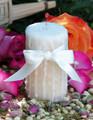 Vanilla Honey Cream Pillar Candle for Flourishing Abundance, Renewal, Fertility, Purity and Illumination