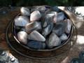Black Moonstone Tumbled Gemstone Medium Set of 2 ~ Feminine Energy, Protection, Love, Wishes, Peace, Harmony, Divination, Healing