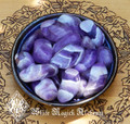 Amethyst Crystal Tumbled Gemstones for Healing, Change, Peace, Love, Strength, Protection Large Set of 2