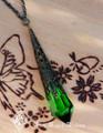 Emmaline ~ Swarovski Crystal Magickal Prism Divination Pendulum Necklace ~ Bronze Filigree Pendant 30 inch