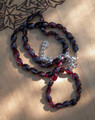 Garnet Beaded Necklace ~ For Protection, Shielding Negative Energies, Healing, Success, Passion and Faerie Workings