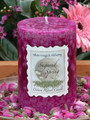 Sugared Spring Ostara Ritual Candle 3x4 Pillar . Fertility, Abundance, Rebirth and New Beginnings