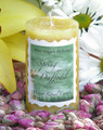 Daffodil Ostara Candle 2x3 Pillar . New Beginnings, Fertility and the Coming of Spring