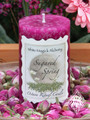 Sugared Spring Ostara Candle 2x3 Pillar . New Beginnings, Fertility and the Coming of Spring