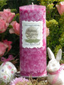 Sugared Spring Ostara Ritual Candle 2.5x6 Pillar . Fertility, Abundance, Rebirth and New Beginnings