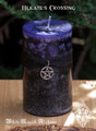 Hekate's Crossing ~ Fusion Pillar Candle 3x4 ~ Change, Personal Acceptance and Growth, New Beginnings, Banishing That Which Does Not Serve