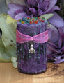 Hare . Ostara Candle 2x3 Pillar . New Beginnings, Fertility and the Coming of Spring . Ostara is the Sabbat with a Rabbit