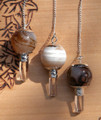Agate Gemstone Pendulums for Divination and Dowsing