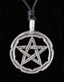 Pentacle Pewter Necklace . Bold Large Pentacle