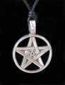 Pentacle in Pentacle Pewter Necklace
